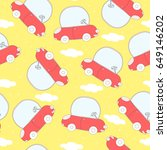 seamless pattern with retro... | Shutterstock .eps vector #649146202