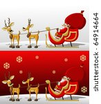 Santa Claus In Sleigh With...