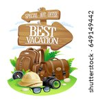 best vacation poster  special... | Shutterstock .eps vector #649149442