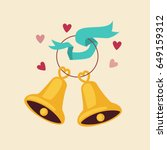 cute cartoon bells icon. vector ... | Shutterstock .eps vector #649159312
