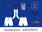 set of soccer kit or football... | Shutterstock .eps vector #649159672