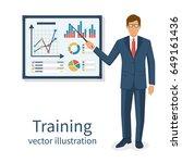 business training concept.... | Shutterstock .eps vector #649161436