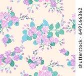 seamless cute pattern in wild... | Shutterstock . vector #649166362