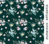 seamless gorgeous pattern in... | Shutterstock . vector #649166416