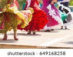 feet of flamenco dancers ... | Shutterstock . vector #649168258