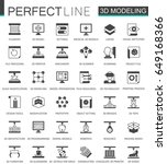 black classic 3d modeling and... | Shutterstock .eps vector #649168366
