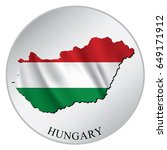 hungary vector sticker with... | Shutterstock .eps vector #649171912
