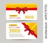 gift card with golden element... | Shutterstock .eps vector #649175752