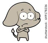 cartoon unsure elephant   Shutterstock .eps vector #649178236