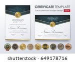 certificate template with... | Shutterstock .eps vector #649178716