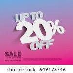 sale 20  off banner. vector...   Shutterstock .eps vector #649178746