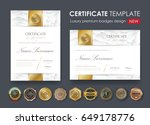 certificate template with... | Shutterstock .eps vector #649178776