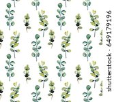 seamless floral pattern with...   Shutterstock . vector #649179196