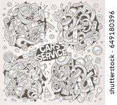 vector line art hand drawn... | Shutterstock .eps vector #649180396