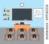 cartoon interior classroom...   Shutterstock .eps vector #649182226
