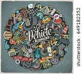 cartoon cute doodles hand drawn ... | Shutterstock .eps vector #649182352