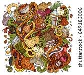 cartoon cute doodles hand drawn ... | Shutterstock .eps vector #649183006