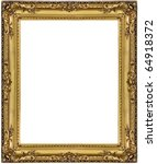 Gold picture frame. isolated on ...