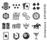 casino icons. vector... | Shutterstock .eps vector #649185598