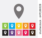 map pointer icon | Shutterstock .eps vector #649188328