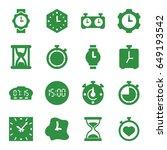 clock icons set. set of 16... | Shutterstock .eps vector #649193542