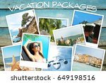 vacation packages concept.... | Shutterstock . vector #649198516