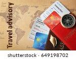 travel deals concept. credit... | Shutterstock . vector #649198702