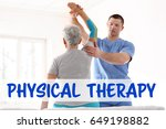 physical therapy concept.... | Shutterstock . vector #649198882