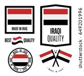 iraq quality isolated label set ... | Shutterstock .eps vector #649201996