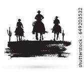 grunge banner  silhouette of... | Shutterstock .eps vector #649203532