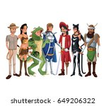 white background group people...   Shutterstock .eps vector #649206322
