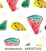 hand drawn vector abstract cute ... | Shutterstock .eps vector #649207102