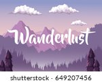 colorful background with dawn... | Shutterstock .eps vector #649207456
