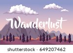 colorful background with dawn... | Shutterstock .eps vector #649207462