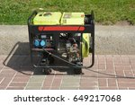 diesel portable generator.... | Shutterstock . vector #649217068