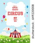 circus illustration for design... | Shutterstock .eps vector #649220008