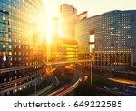 modern buildings in paris... | Shutterstock . vector #649222585