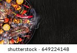 barbecue garden grill with beef ... | Shutterstock . vector #649224148