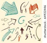 doodle set - arrows   Shutterstock vector #64922446