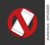 vector modern sign   turn off... | Shutterstock .eps vector #649226305