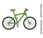 bicycle icon on white... | Shutterstock . vector #649227466