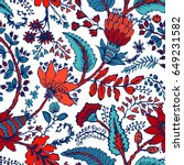 seamless pattern with fantasy... | Shutterstock .eps vector #649231582