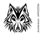 Wolf Tribal Tatto Animal...