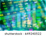 stock excange market analysis... | Shutterstock . vector #649240522
