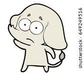 cartoon unsure elephant   Shutterstock .eps vector #649249516