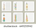 collection of cute notes for... | Shutterstock .eps vector #649255942