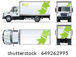 vector truck template isolated... | Shutterstock .eps vector #649262995