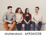 casual young people group ... | Shutterstock . vector #649264258