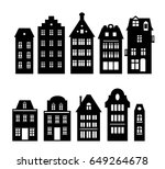 set of laser cutting amsterdam... | Shutterstock .eps vector #649264678