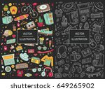 collage elements. templates... | Shutterstock .eps vector #649265902